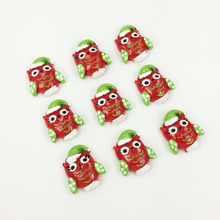 Resin Owl Cabochon Flatback Kawaii Charm DIY Flat Back Scrapbooking Crafts Decorative Phone Case Charm:20*25MM