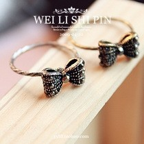 $10 (mix order) Free Shipping 2013 New Fashion European Retro Alloy Bow Tie Bowknot Butterfly Ring R680 2g