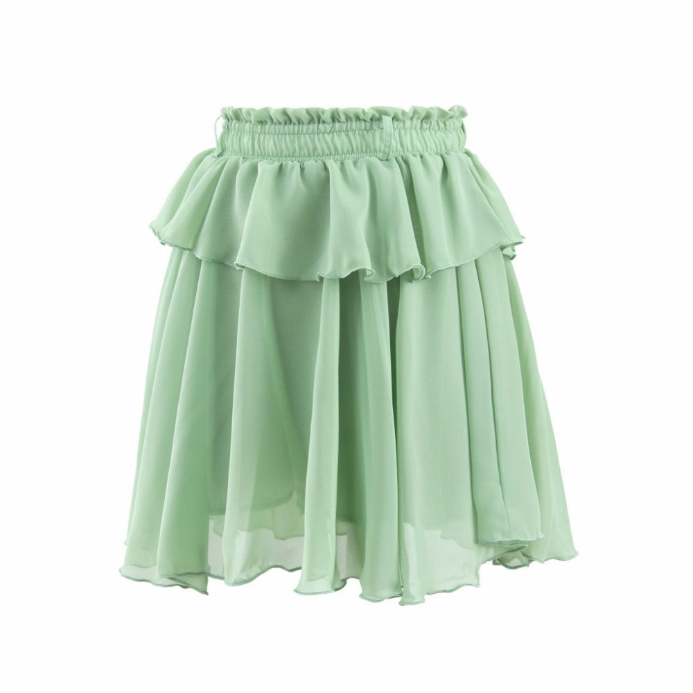2016 Summer Style Casual Skirts Women Elastic Waistline A Line Knee Length Skirt Customized ...