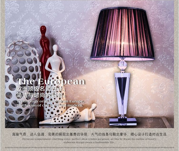 Large fashion modern crystal table lamp bedroom bedside lamp decoration lamp living room lights Mysterious purple table lamp(China (Mainland))