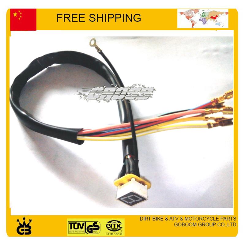 Modified 100cc 110cc 125cc 150cc 200cc 250cc motorcycle gear 0-6 motorbike motogp Digital Neutral Gear Indicator free shipping(China (Mainland))