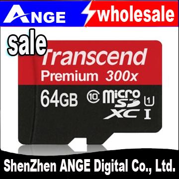 High Speed Original Transcend 16GB 32GB 64GB MicroSD MicroSDHC MicroSDXC Micro SD SDHC SDXC Card class 10 UHS-1 TF Memory Card(China (Mainland))