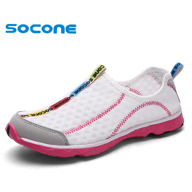 2016 SOCONE New women athletic shoes, super light and breathable mesh women Running shoes,hight quality summer sport shoes(China (Mainland))