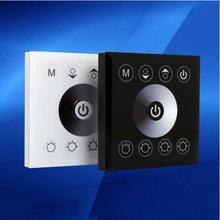 Dc 12 v-24 v 8a touch panel led dimmer per 3528 5050 5630 3014 singolo colore led le luci della stringa/luci di striscia(China (Mainland))