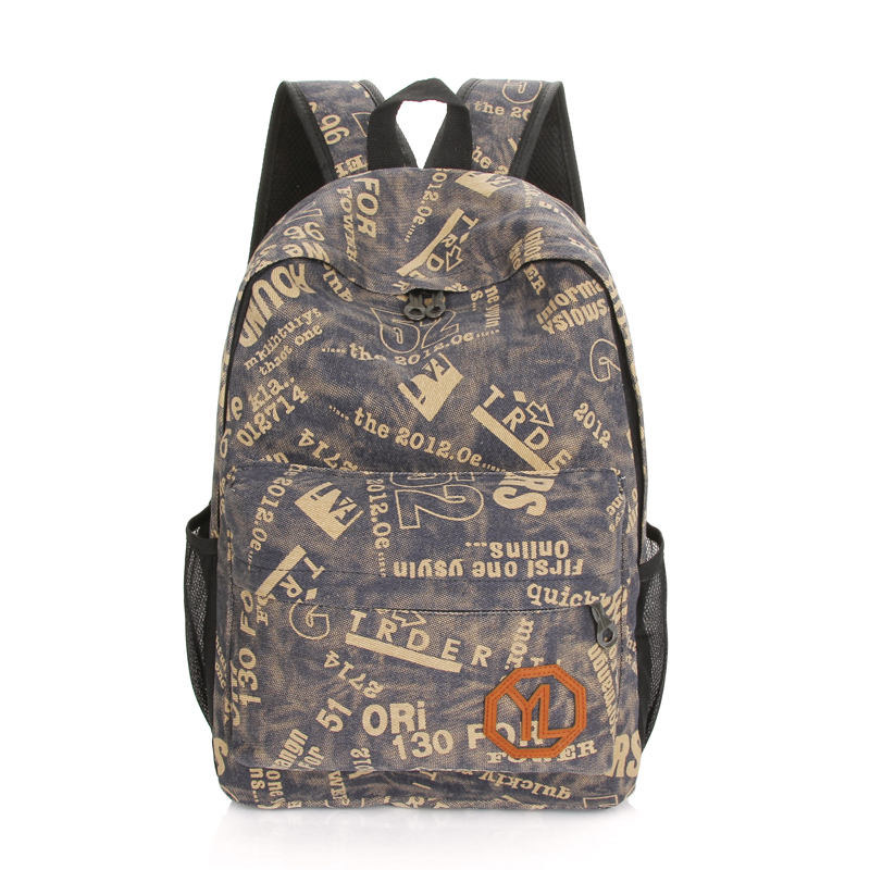Restore ancient ways do old canvas backpack Pure cotton green high quality leisure travel bag Style fashion college school bag