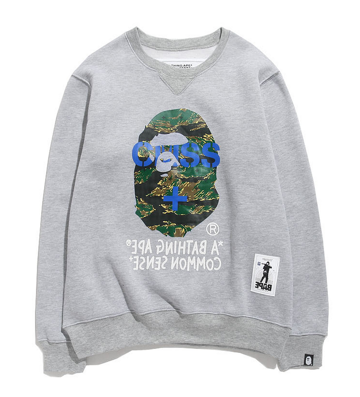 2015 Autumn men's hip hop Street Tide brand aape fashion sweaters m l xl xxl - Vivian Apparel Co,Ltd store