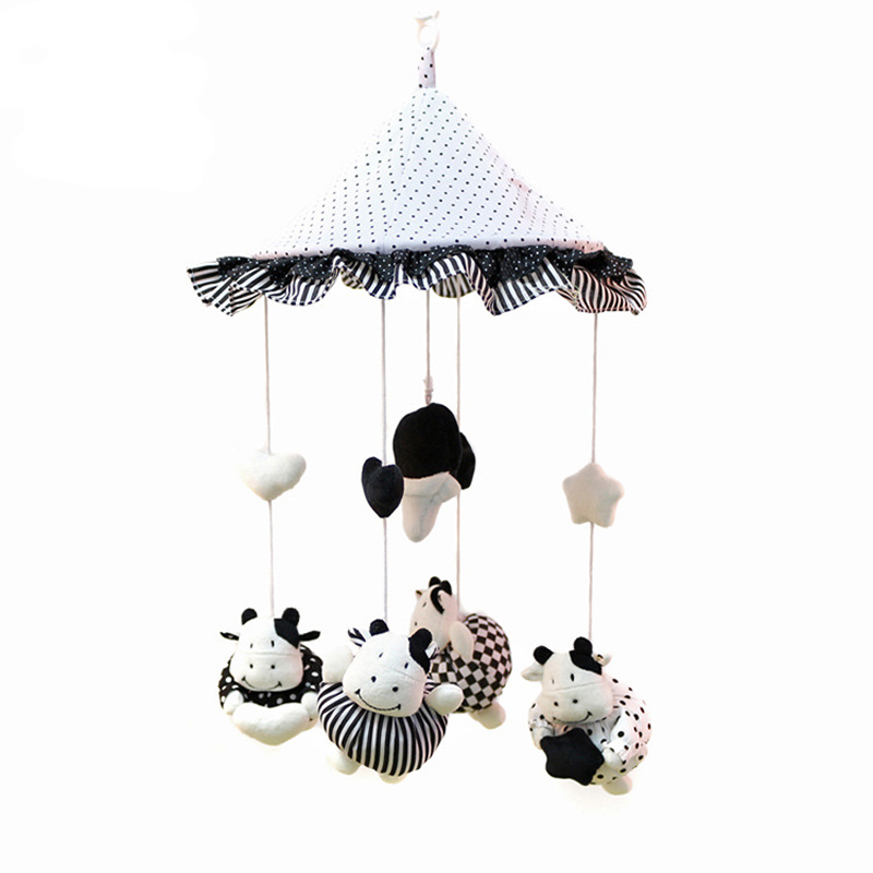 NEW 2016 Rattles Bed Bell Cute Baby Child Mobile Crib Toy Box Wind-Up Movement with Music Baby Toys 0-12 months-BYC097 PT49(China (Mainland))