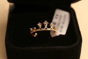 nz290  Free Shipping New Fashion Flash Drill Crown Ring Jewelry Shiny Elegant Beauty Ring wholesale