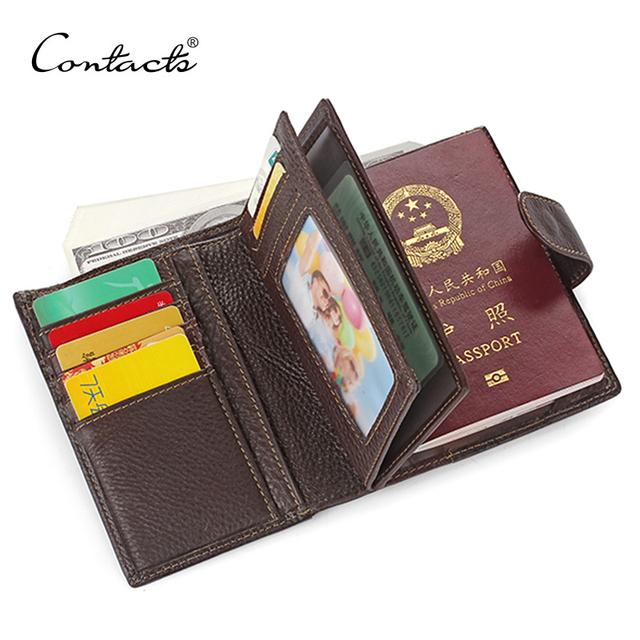 Гарантия 100% натуральная кожа мужские владельцем паспорта кошельки человек коровьей ...