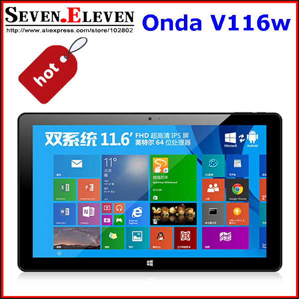 Планшетный ПК Onda V116W Tablet PC 11,6 2 /64 Intel Z3736F 3G windows8.1 + android4.4 keyboard case with touch panel for onda v919 3g air windows 10 tablet pc z3736f onda v919 windows 10 onda v919 4g keyboard