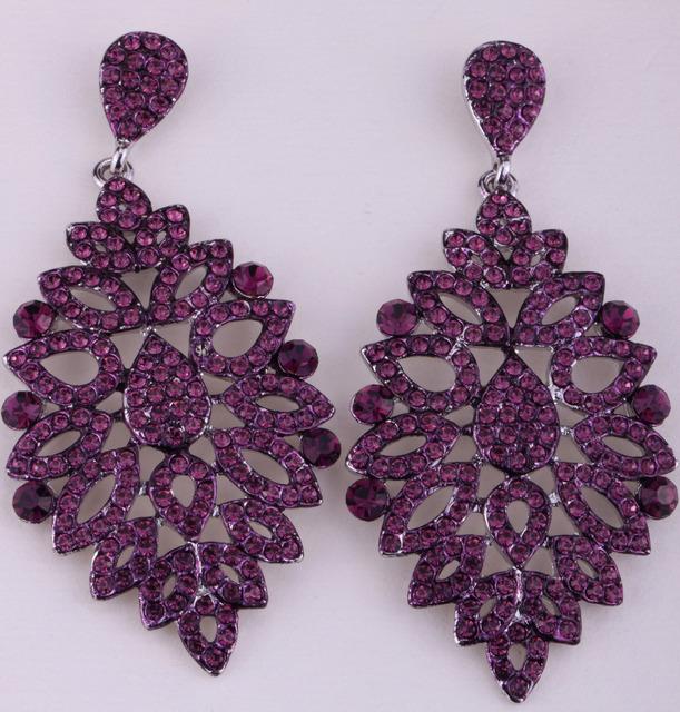 Мотаться длинная листья серьги для женщины кристалл милый лето ювелирные изделия ED02
