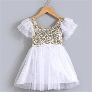 2015 new gorgeous toddler dress girls,brand children clothes.girls dresses for party wear veil sequined clothing(China (Mainland))