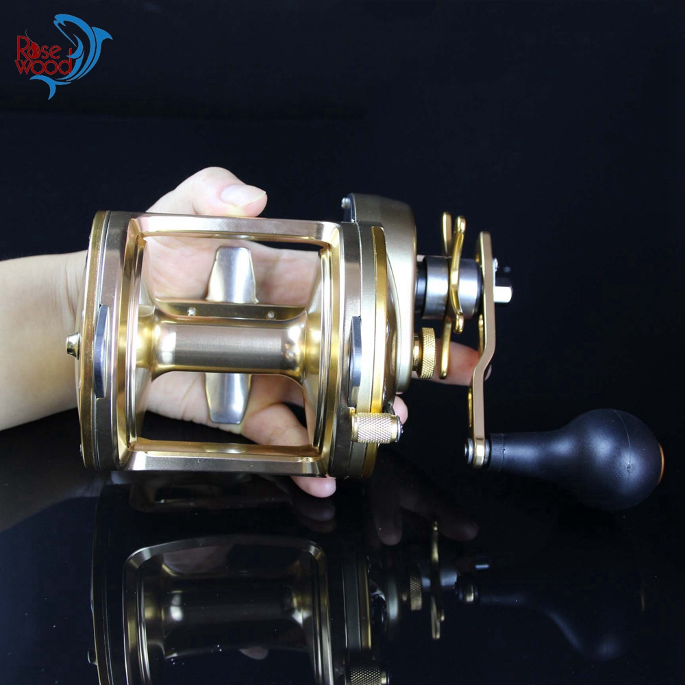 30kg Power Act351 Full Metal Trolling Fishing Reels Saltwater Baitcasting For Sea Fishing 3BB+1RB Boat Drum Jig Reel Peche Wheel  (9)