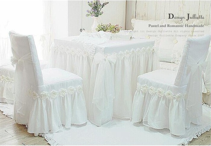 DJ white Princess lace tablecloth luxury rose dining table cloth chair cushion wedding tablecloth chair cover decoration textile