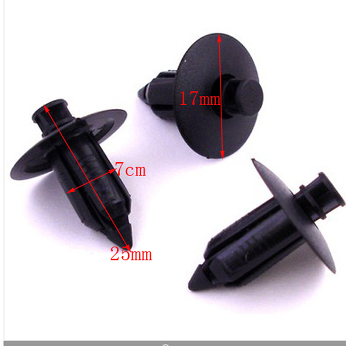 10x Black Plastic Car Rivet Style Body and Trim Panel Fastener Clips - Saab, Suzuki(China (Mainland))