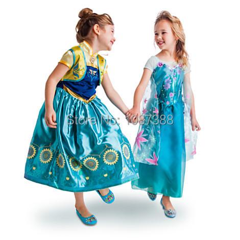 2016 Baby girls summer Dresses Kids clothes anna elsa suspender dress catimini Casual Costume Robe Vestidos Infantis Menina - Sundy baby store