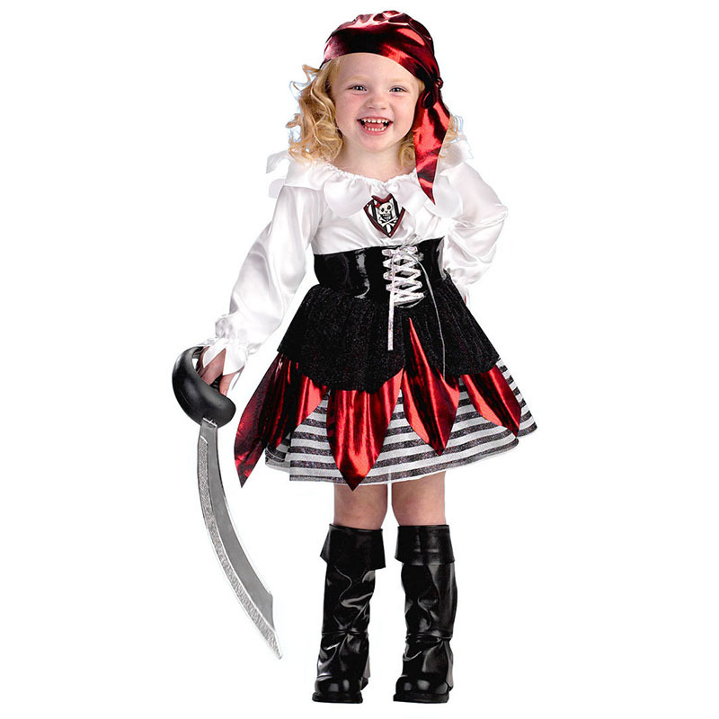 Halloween christmas pirate costumes girls party cosplay costume for