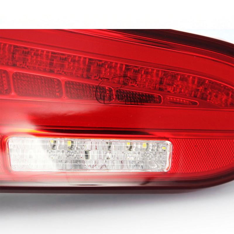 Новый автомобиль укладка задние фонари комплект модификация для hyundai ix45 санта-фе третьего поколения 2013 2014 высокое качество черный или красный