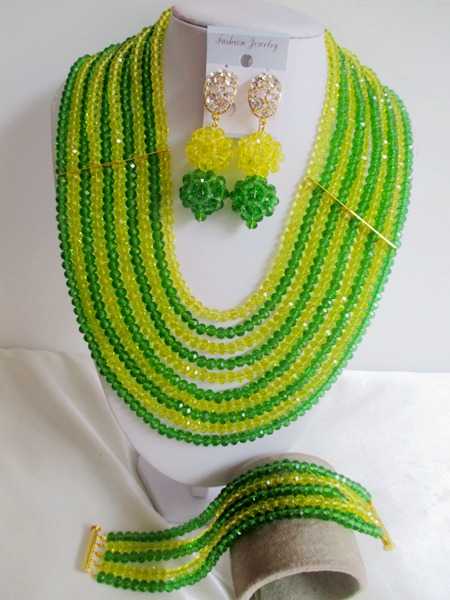 Fashion New  Nigerian Wedding African Beads Jewelry Set Crystal Necklaces Free shipping   JWN-00038<br><br>Aliexpress
