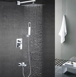 free shipping luxury copper brass bathroom square rainfall