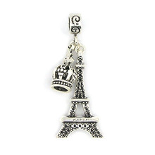 New European Crown & Tower Pendant Alloy Silver Bead Charm Fit Pandora Women DIY Bracelets & Bangles Necklace Jewelry YW15607