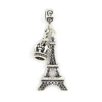 European Crown & Tower Pendant / Bead / Charm