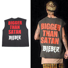 Justin Bieber Fear god Tank Tops Yeezy Season3 Summer Style Men`s Fashion Vest swag Kanye bigger Satan - Cooo Coll store