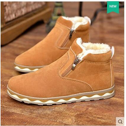 2016 Full grain leather Men Winter Boots Russian style Handmade Warm Plus Size Men Winter Shoes