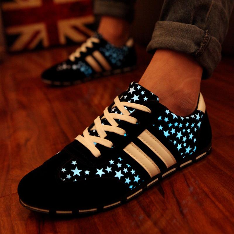 2015 new Luminous Shoes Men Evening Flash Light golden goose Light Shoes Night Market Walking Shoes Sneakers leisure flat shoes(China (Mainland))