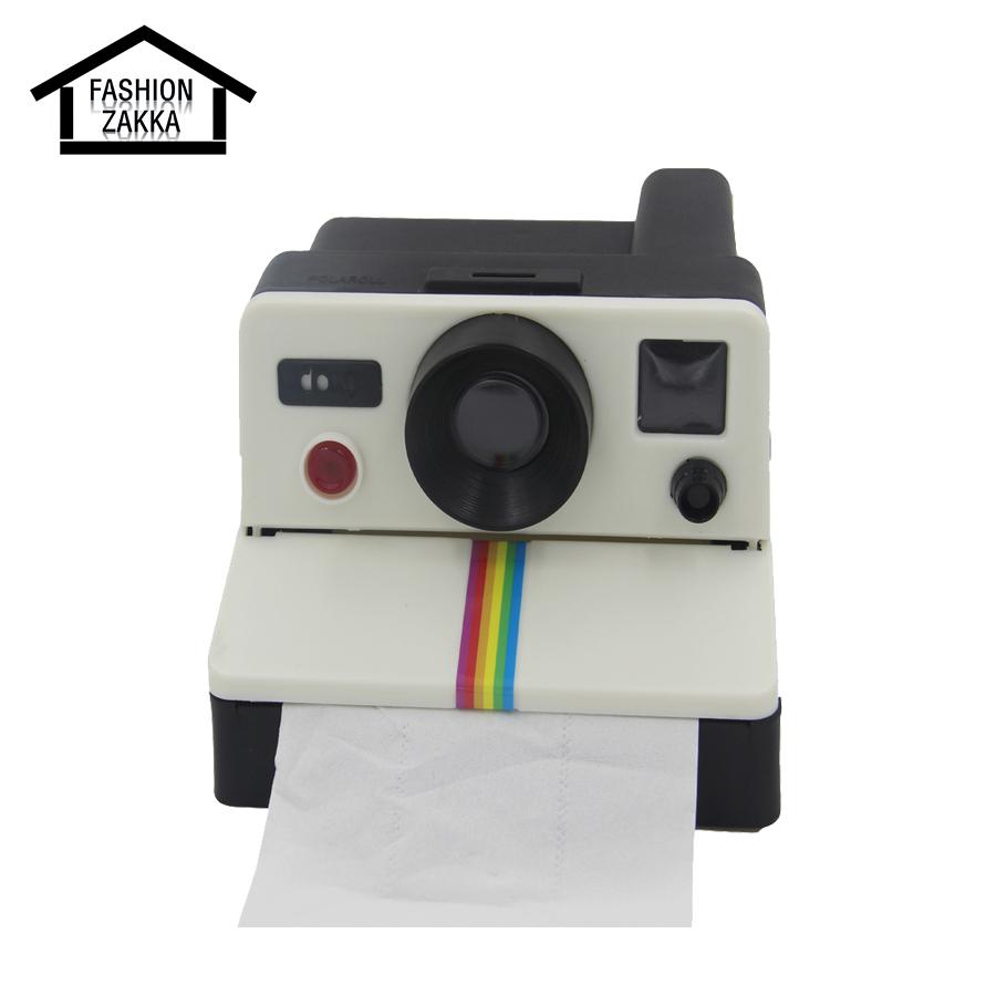 Retro 80s Camera Shape Toilet Paper Holder Creative Bathroom Accessories Toilet Roll Holder Tissue Box Kitchen Paper Holder(China (Mainland))