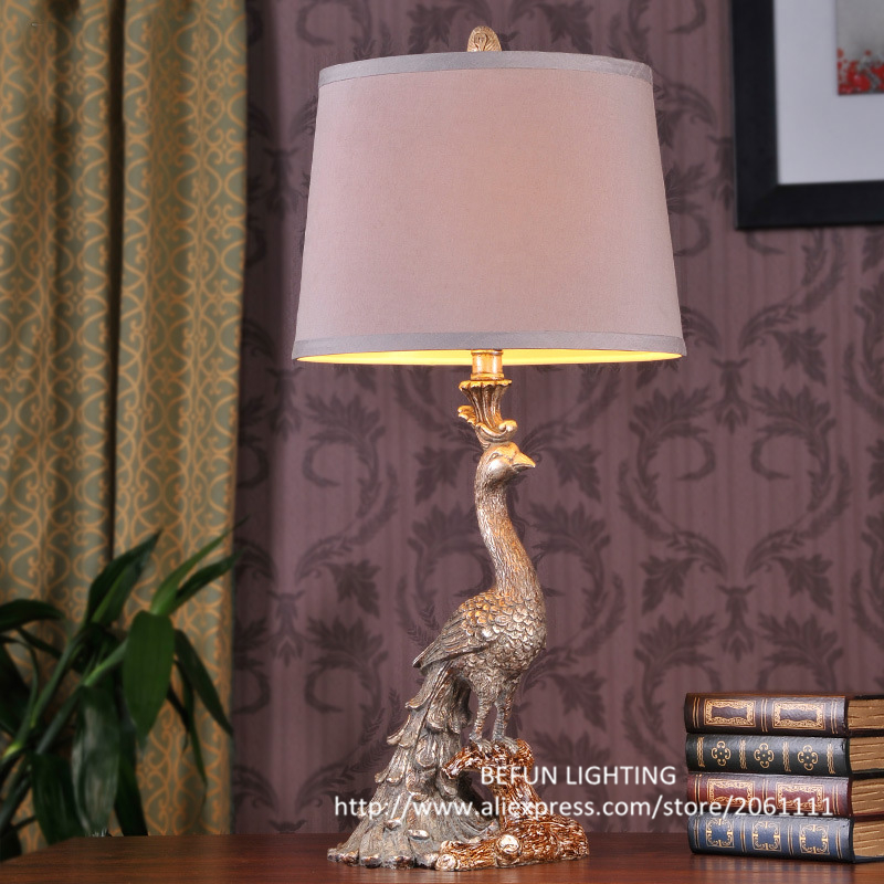 Free shopping hot selling lighting popular classical peacock lamp luxury European decorative table lamp bedside table lights(China (Mainland))