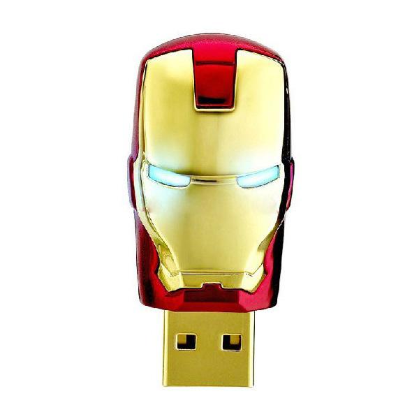 Iron man head USB stick Justice league heroes thumb key foldable swivel shape USB flash drive(China (Mainland))