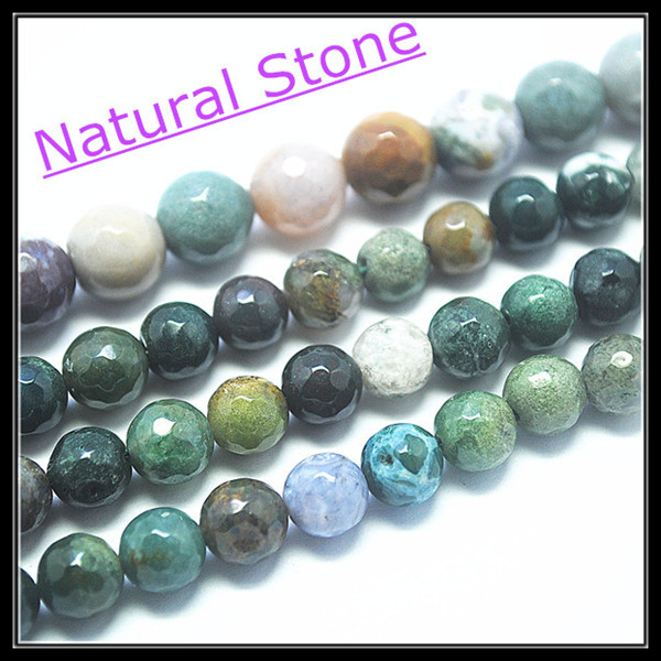 Wholesale price ! Faceted Indian Agate stone nature semi precious stone beads accesories size 4mm 6mm 8mm 10mm 12mm(China (Mainland))