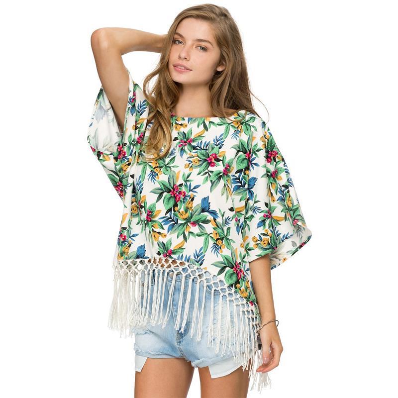 Женские блузки и Рубашки OCARY 2015 Batwing Blusas Femininas