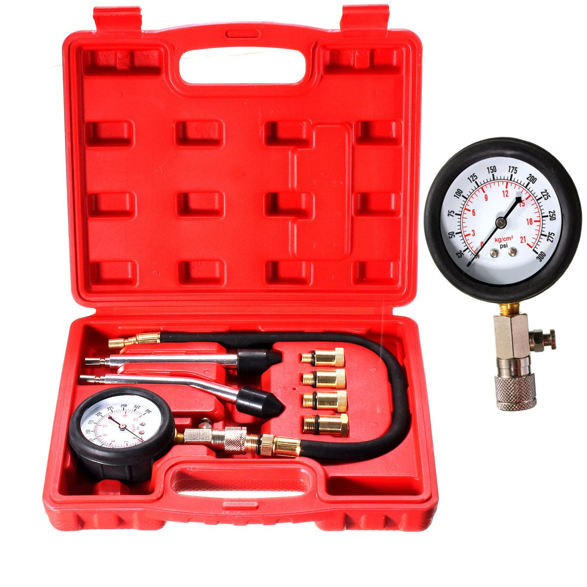 automotive petrol engine compression tester test kit gauge motorcycle tool valve in decals. Black Bedroom Furniture Sets. Home Design Ideas