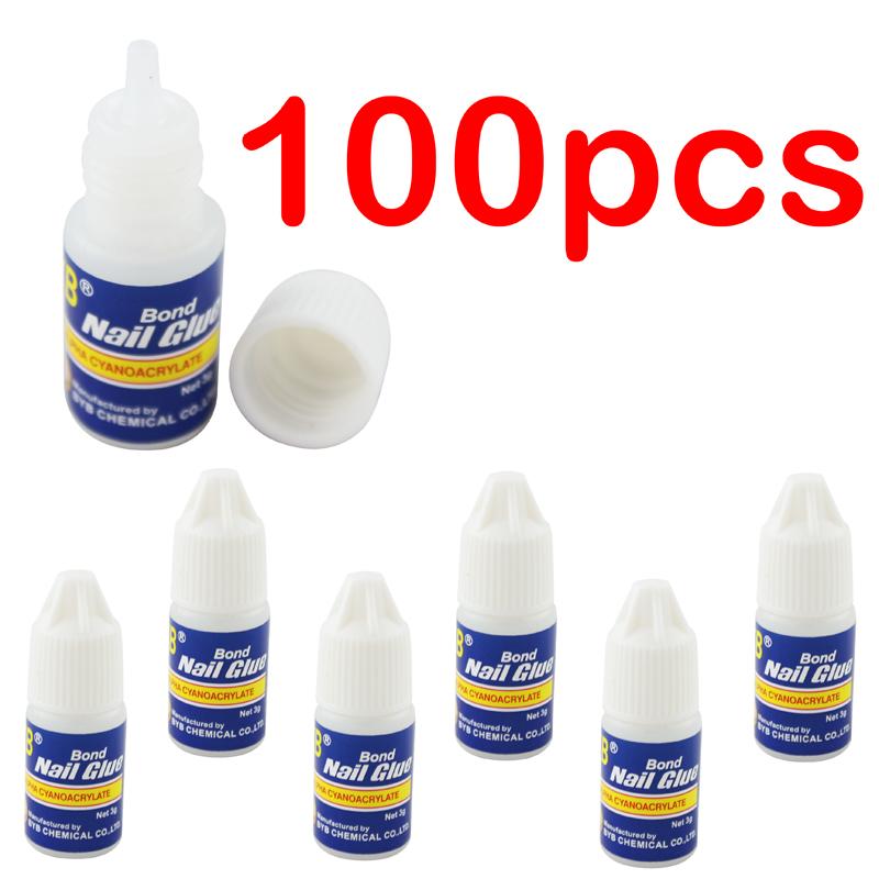 OPHIR UV Gel Nail Polish 100 x 3g Manicure Art Tips Stick Tool Decorations Rhinestone Acrylic False Nail Glue_KD023-100X(China (Mainland))