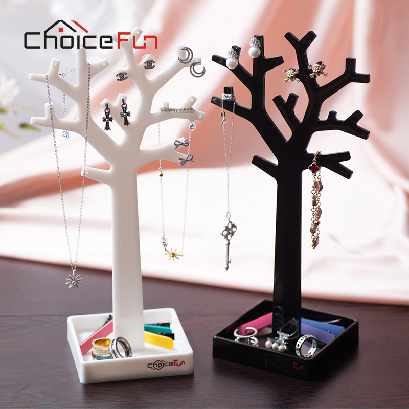 CHOICE FUN New Arrival 2 Color Fashion Storage Rack Necklace Bracelet Jewelry Display Box Cute Small Tree For Storage SF-84017(China (Mainland))