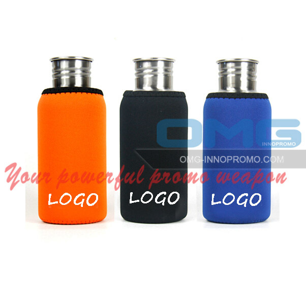 Custom Imprint Neoprene 500 ml Water Bottle Sleeve Cooler Bag Beer Cozy Holder Insulator(China (Mainland))
