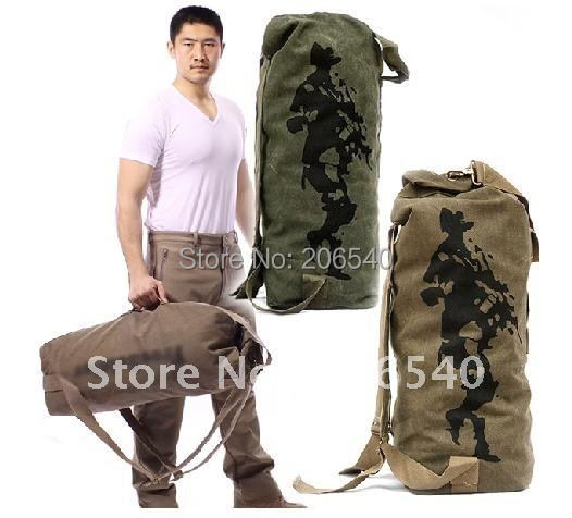 Free shipping brand new Military Backpack Travelling Duffle Bag Canvas Camping Hiking knapsack Outdoor(China (Mainland))