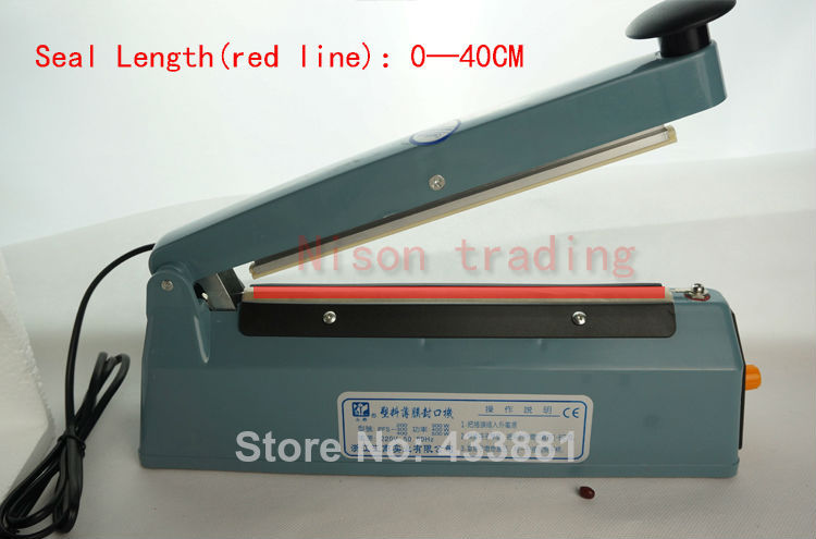 40CM(16 inch)-Voltage(220V)Heat seal machine hand seamer manual sealing - Nison trading store