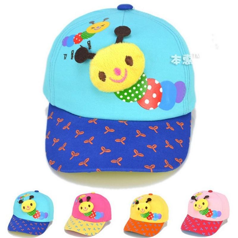 Mode hoeden schattige baby boy katoenen baby meisje cap mooie rups contrasterende kleur baseball - Baby boy versiering van de zaal ...
