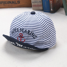 Kids Summer Hats Letters Super Marine Printed Pinstripe  Baseball Hat Children Snapback Caps Hip Hop Boys Sun Caps Girls(China (Mainland))