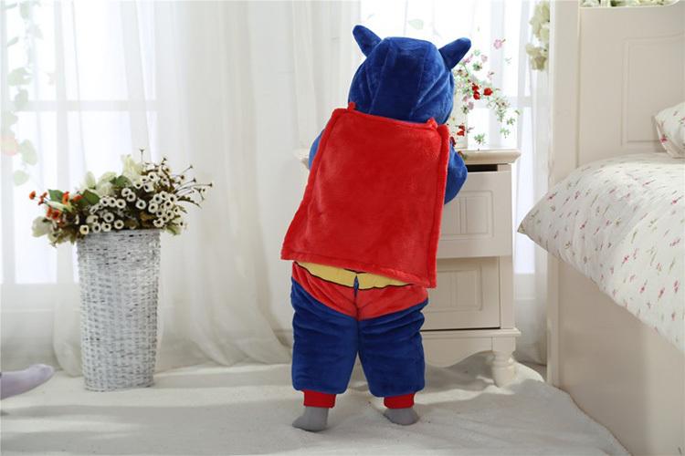 Скидки на Полный зима ребенка комбинезон тепловой стиль, Герой костюм для фотографии