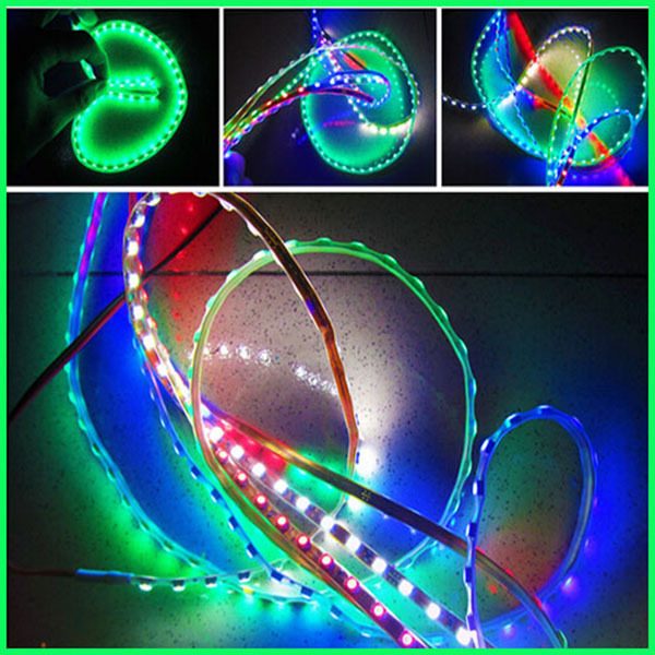 Hot Sale Colorful Car Flexible Waterproof 3528 SMD Led Red /Bue /White /Green/RGB Light Car Van 12V LED Strip Light Bulb 30cm(China (Mainland))