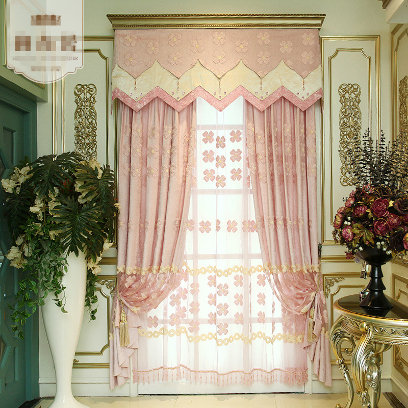 Custom curtains modern living room bedroom warm european - European style curtains for living room ...