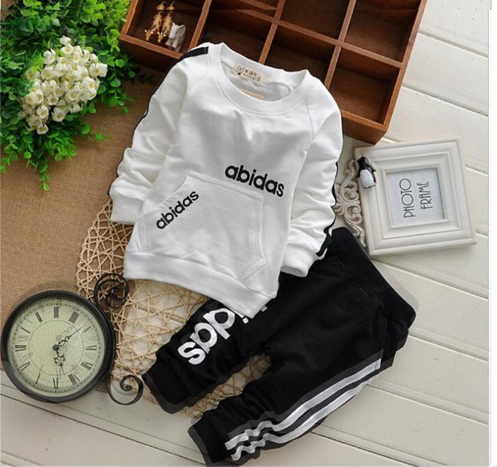 retail 2-6yrs 2015 New cotton spring children baby boys girls autumn spring 2pcs clothing set suit baby shirt+pants sets(China (Mainland))