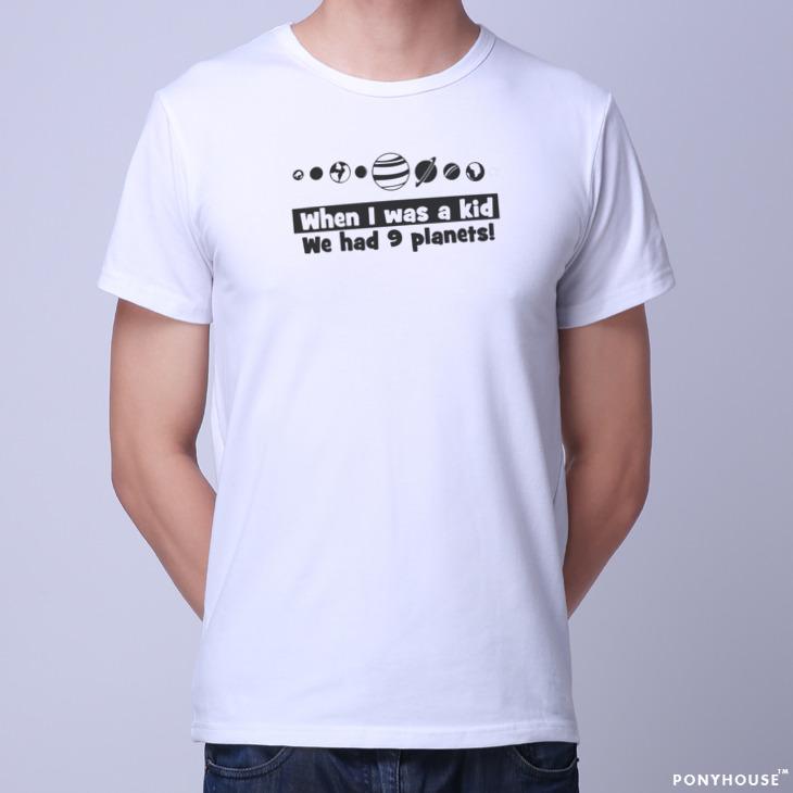 Гаджет  2015J QIU AS A KID WE HAD PLANETS, the nine planet astronomy male short sleeved T-shirt None Изготовление под заказ