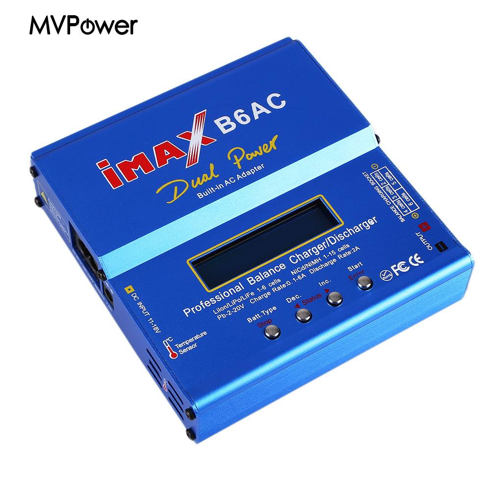 80W B6AC Dual Lipo NiMH RC Battery Balance Charger Discharger For Helicopter Car