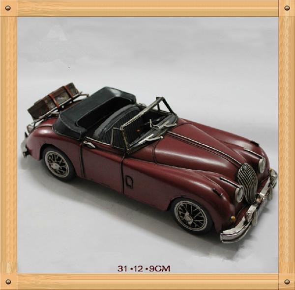 Cool Handmade Metal Roadster Model Vintage Diecast Car(China (Mainland))
