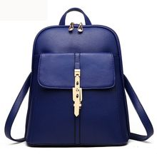 Buy 2016 New Pu Leather Backpacks Women Fashion Backpack School Bags Teenagers Mochila Ladies Bagpack Woman Travel daypack Back Pack for $23.88 in AliExpress store